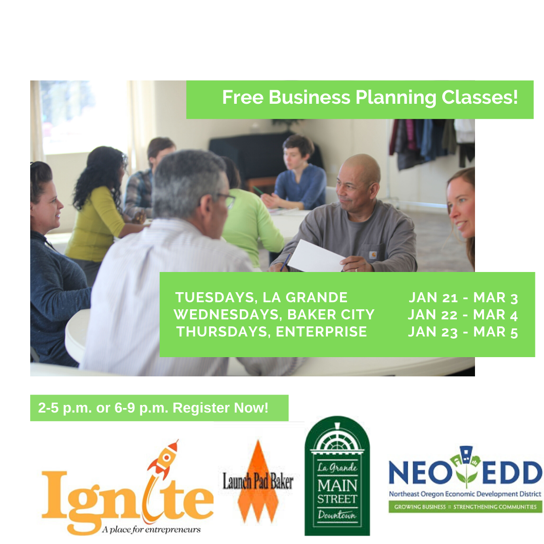 NEOEDD Business Planning Class in La Grande